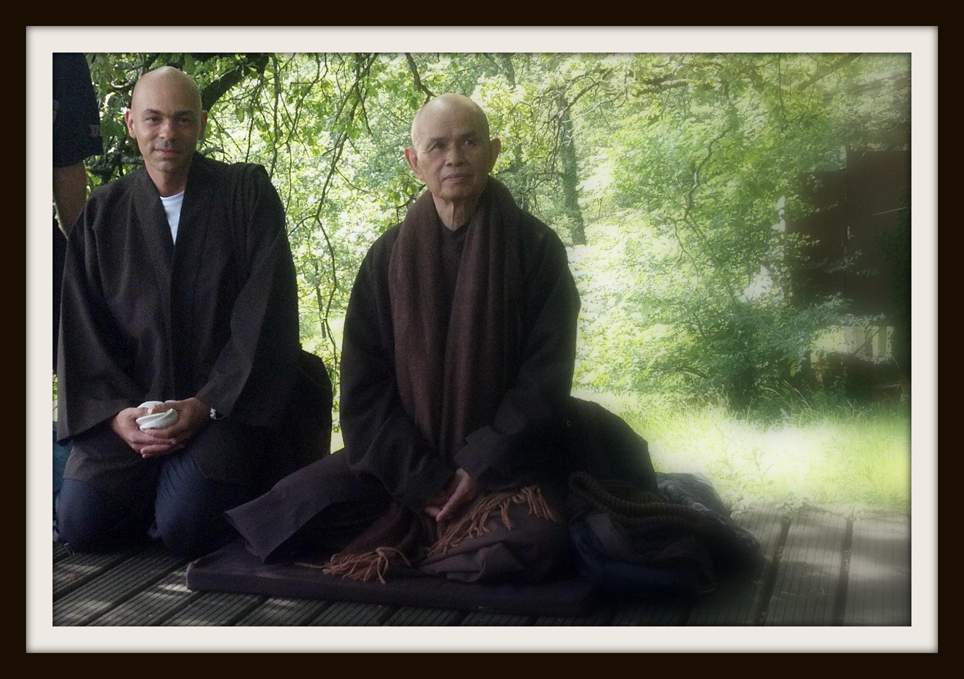 Vitor e o Mestre Zen Thich Nhat Hanh, expoente na história do Budismo