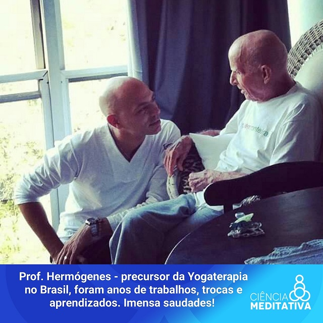 10 anos de trabalho juntos, Vitor e Hermógenes, propagando os benefícios da Yogaterapia