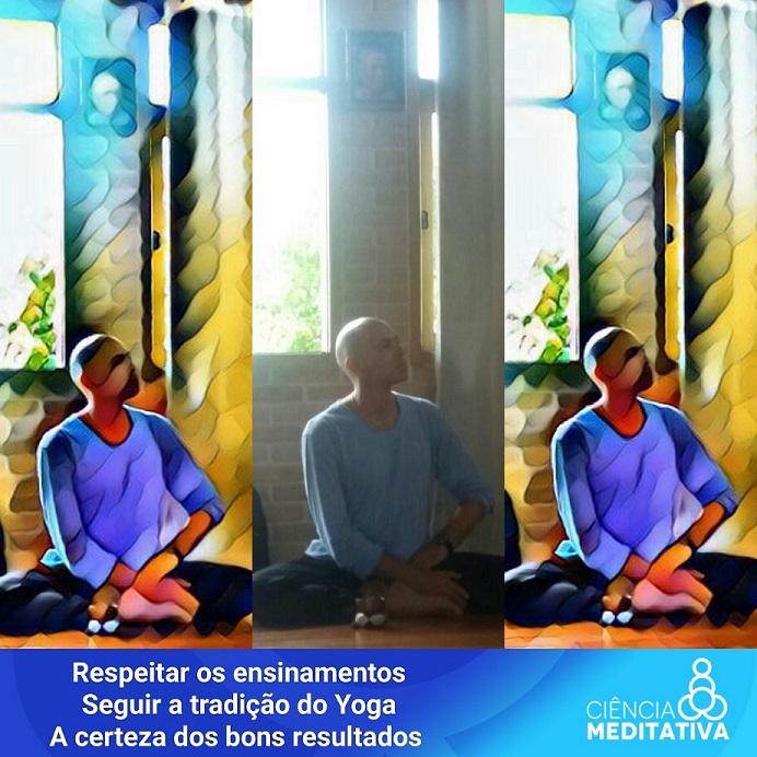 Professor Vitor conduz diversos alunos a compreender o esforço pessoal da prática de Yogaterapia