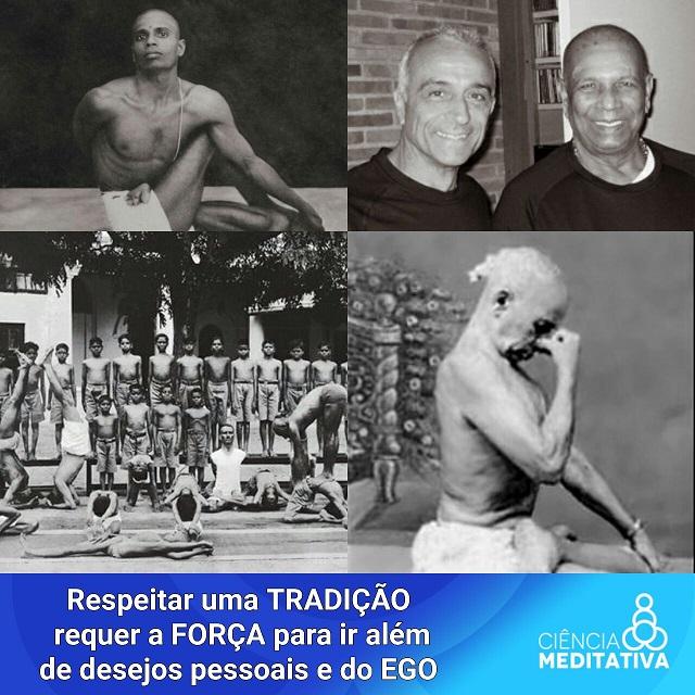 Grandes professores da tradição do Ashtanga Yoga. Uma prática de Hatha Yoga de intenso trabalho para o corpo, como caminho de transformação.